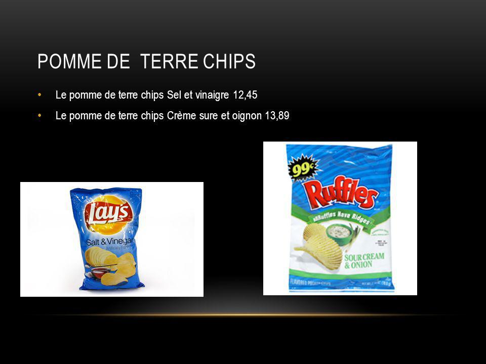 Pomme de terre chips Le pomme de terre chips Sel et vinaigre 12,45