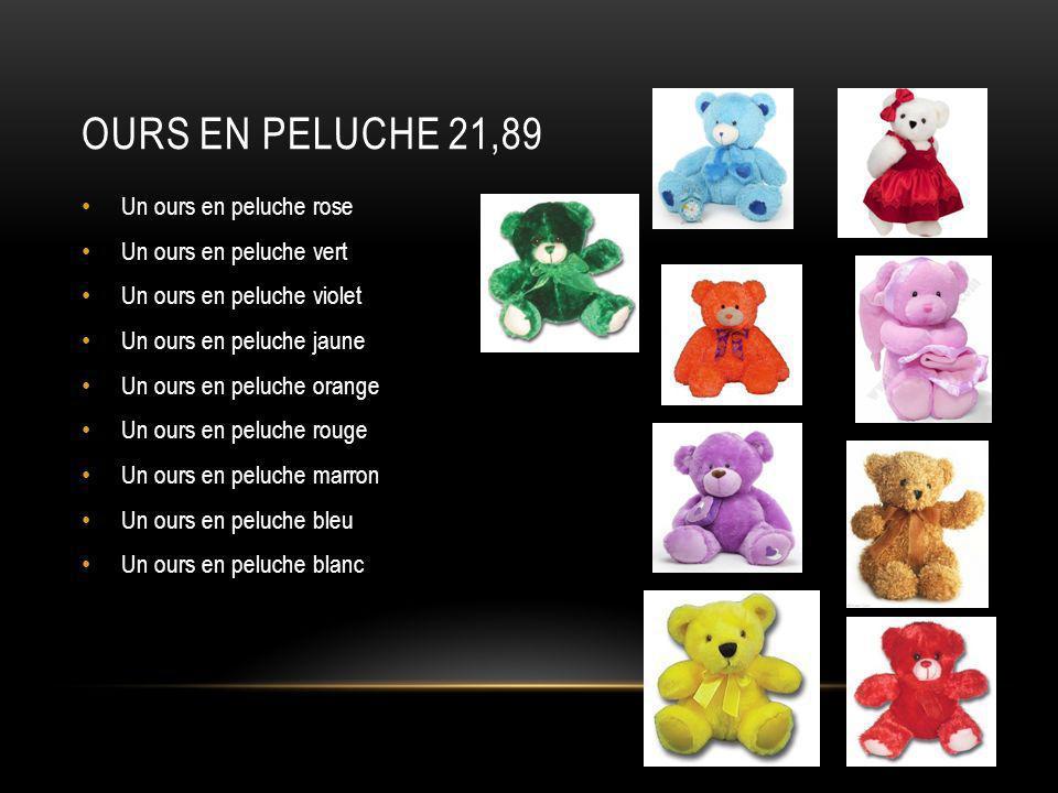 Ours en peluche 21,89 Un ours en peluche rose Un ours en peluche vert
