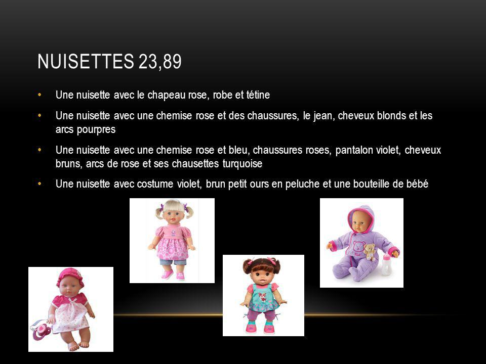 Nuisettes 23,89 Une nuisette avec le chapeau rose, robe et tétine
