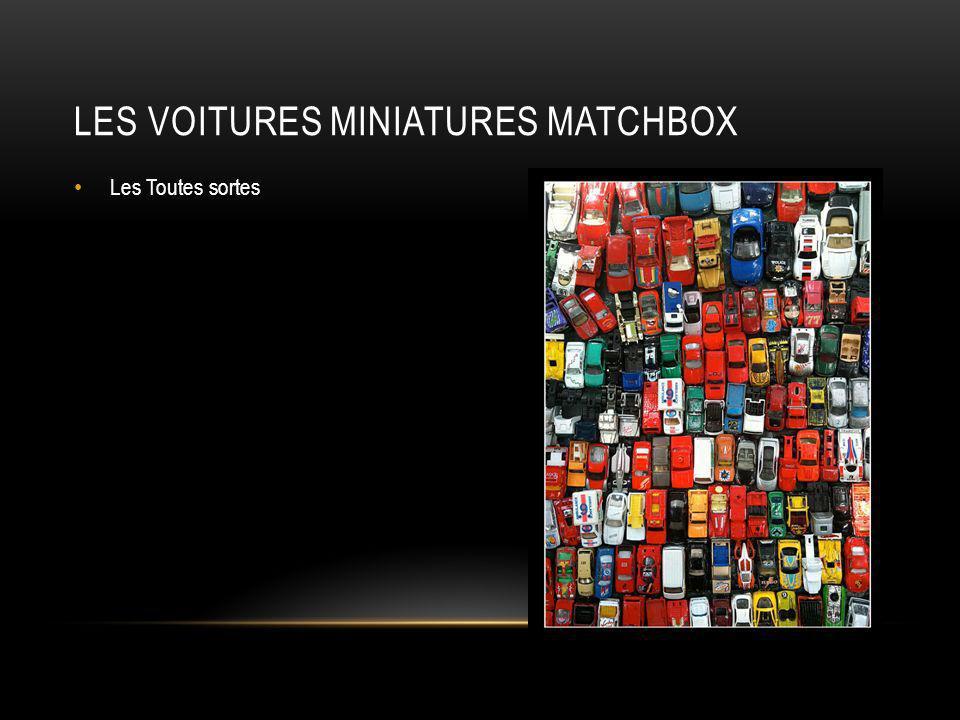 Les voitures miniatures matchbox
