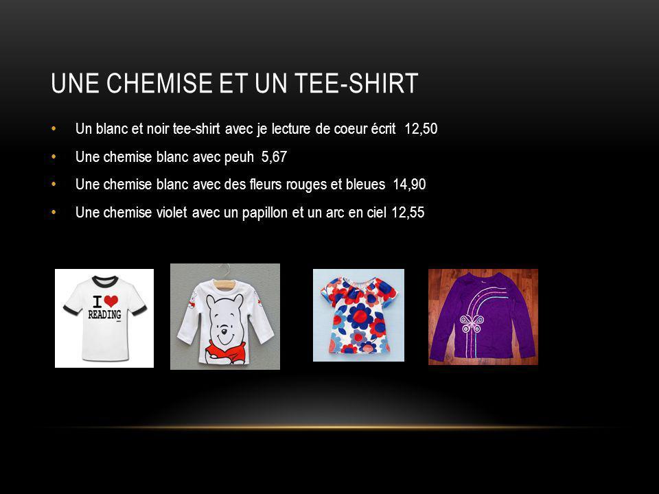 Une Chemise et un tee-shirt