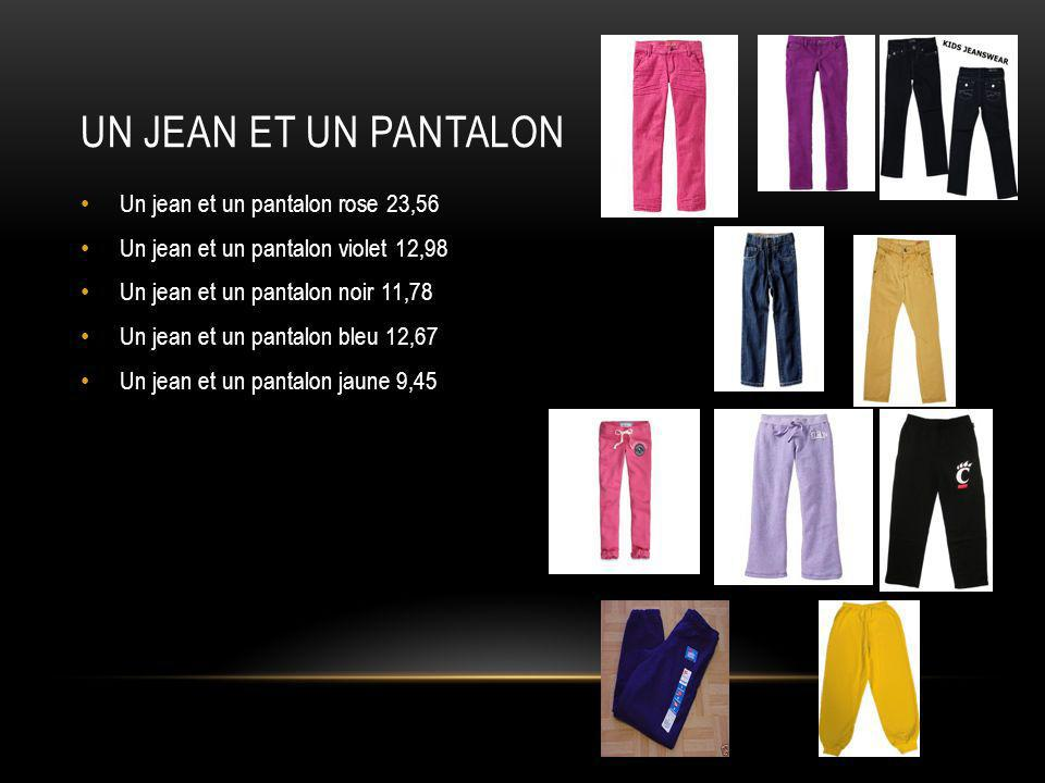 Un jean et un pantalon Un jean et un pantalon rose 23,56