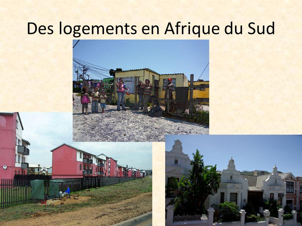 Des logements en Afrique du Sud