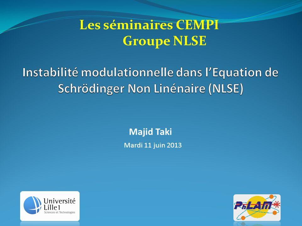 Les séminaires CEMPI Groupe NLSE