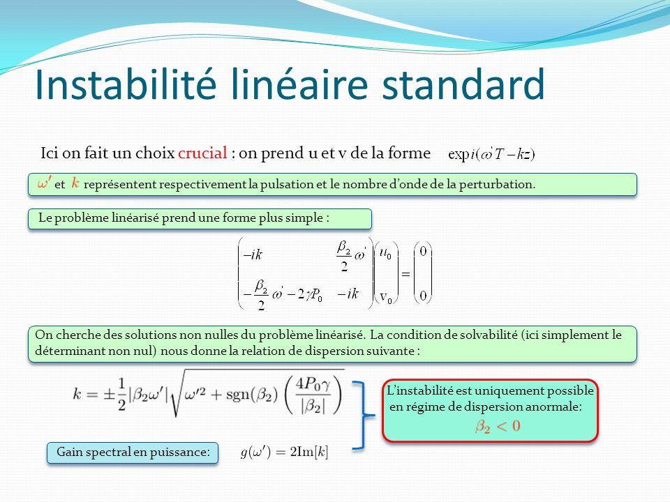 Instabilité linéaire standard