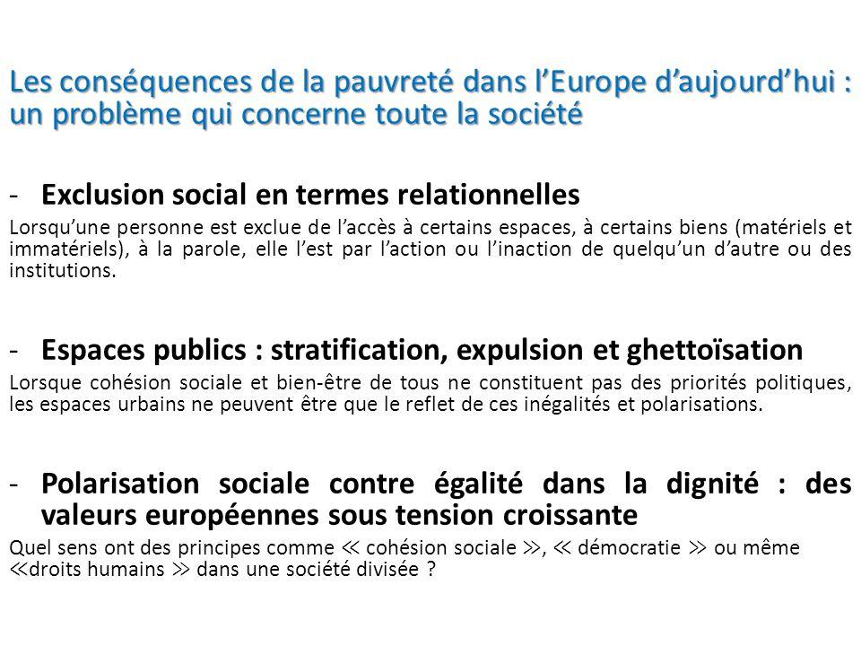 Les conséquences de la pauvreté dans l'Europe d'aujourd'hui : un problème qui concerne toute la société