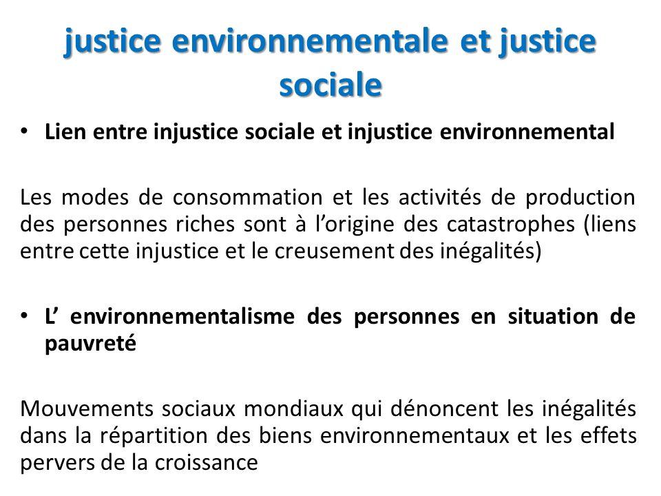 justice environnementale et justice sociale