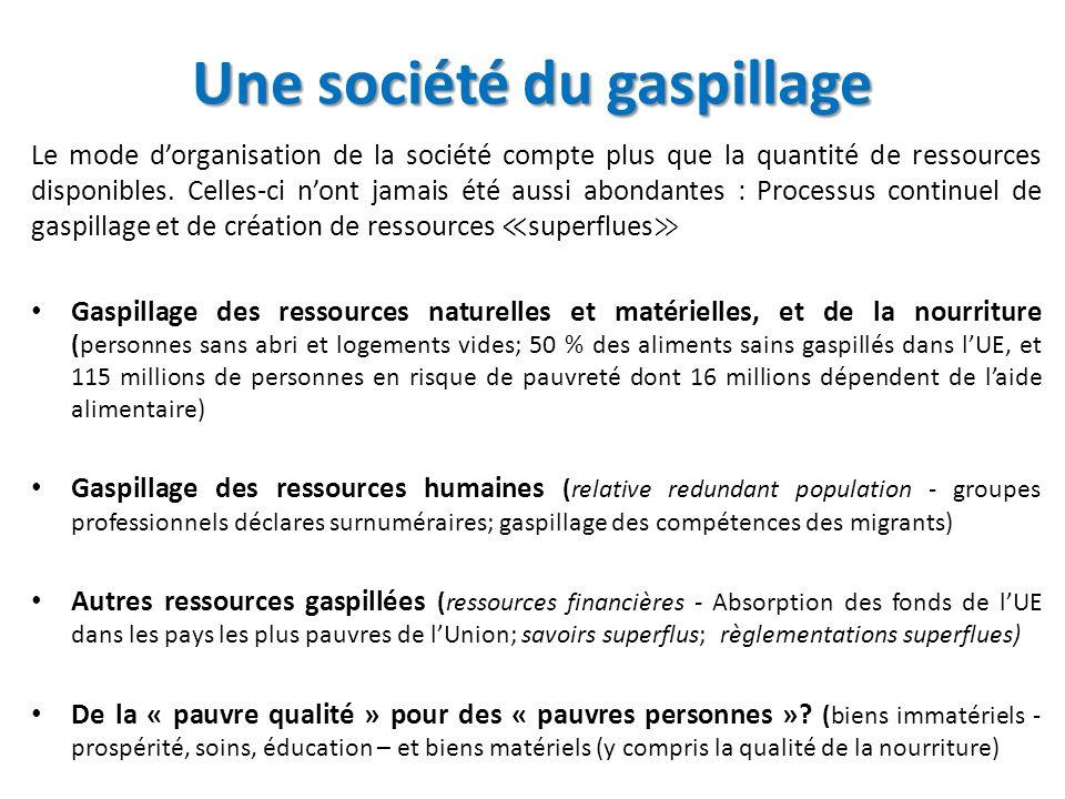 Une société du gaspillage