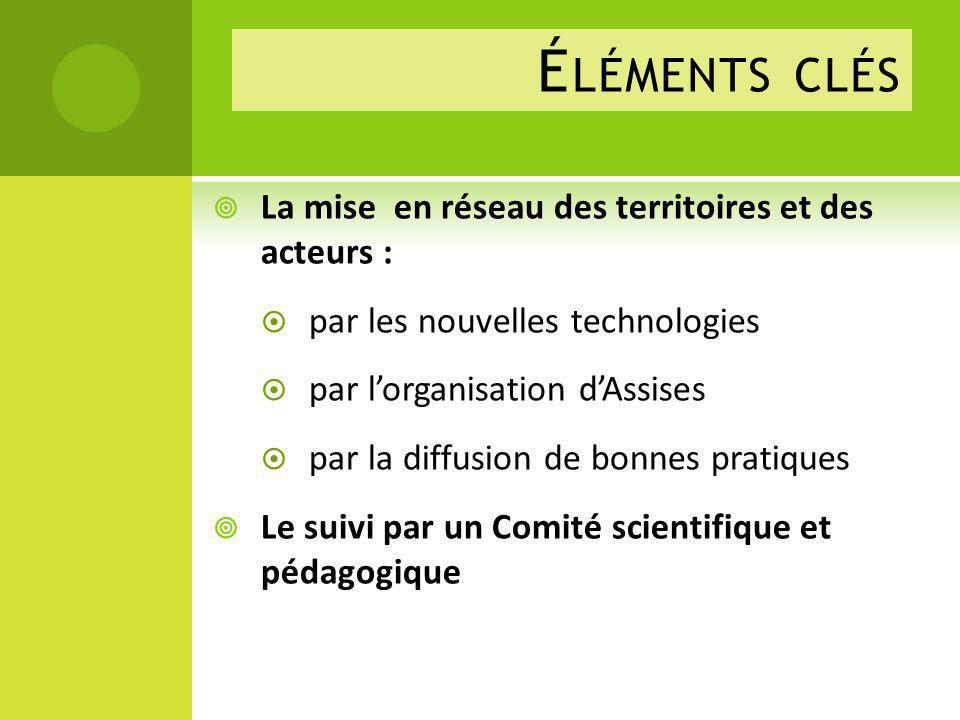 Éléments clés La mise en réseau des territoires et des acteurs :