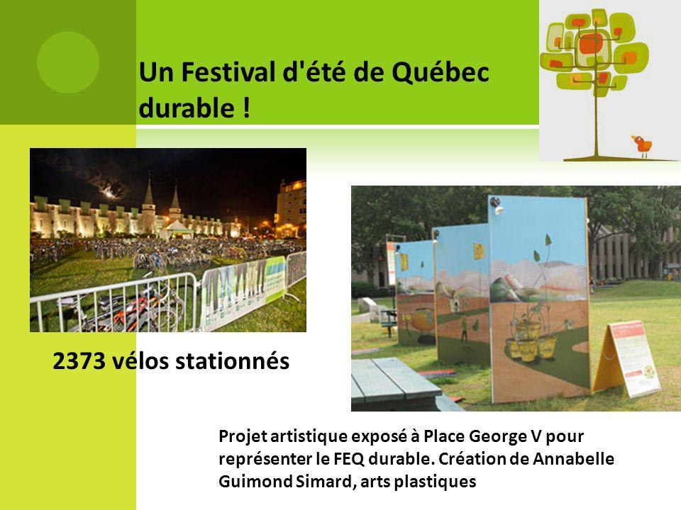 Un Festival d été de Québec durable !