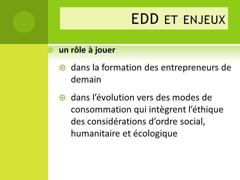 EDD et enjeux dans la formation des entrepreneurs de demain