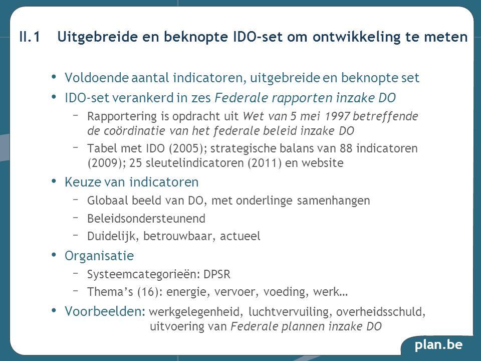 II.1 Uitgebreide en beknopte IDO-set om ontwikkeling te meten