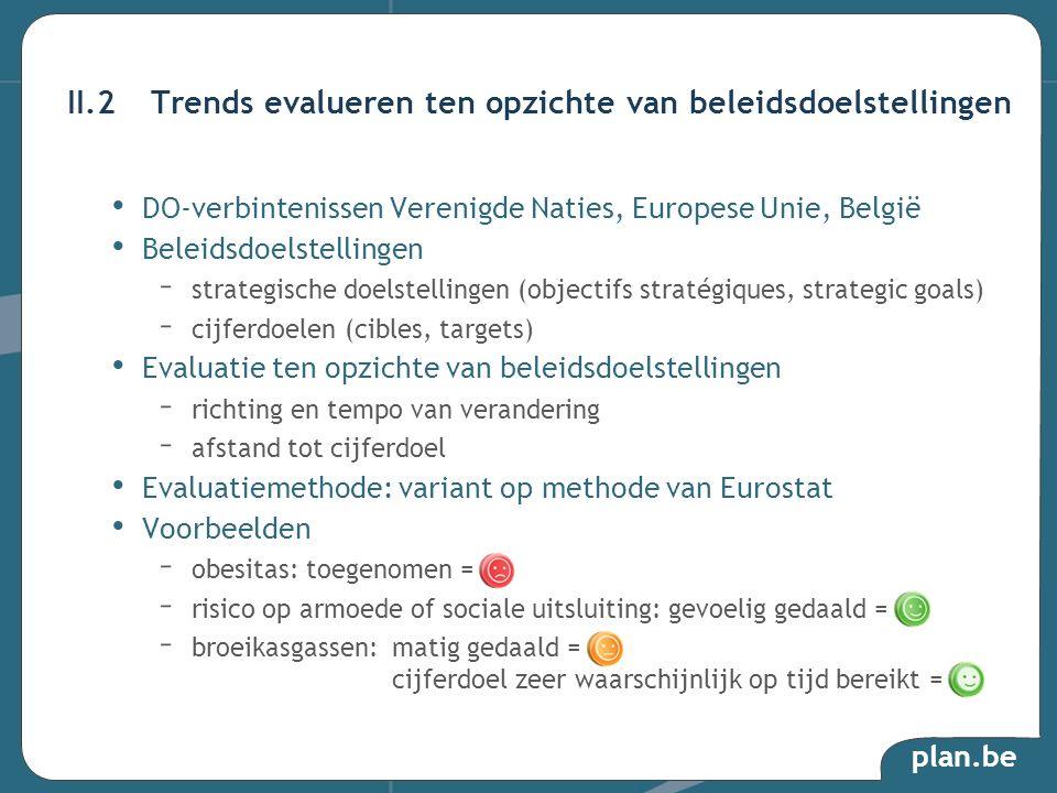 II.2 Trends evalueren ten opzichte van beleidsdoelstellingen