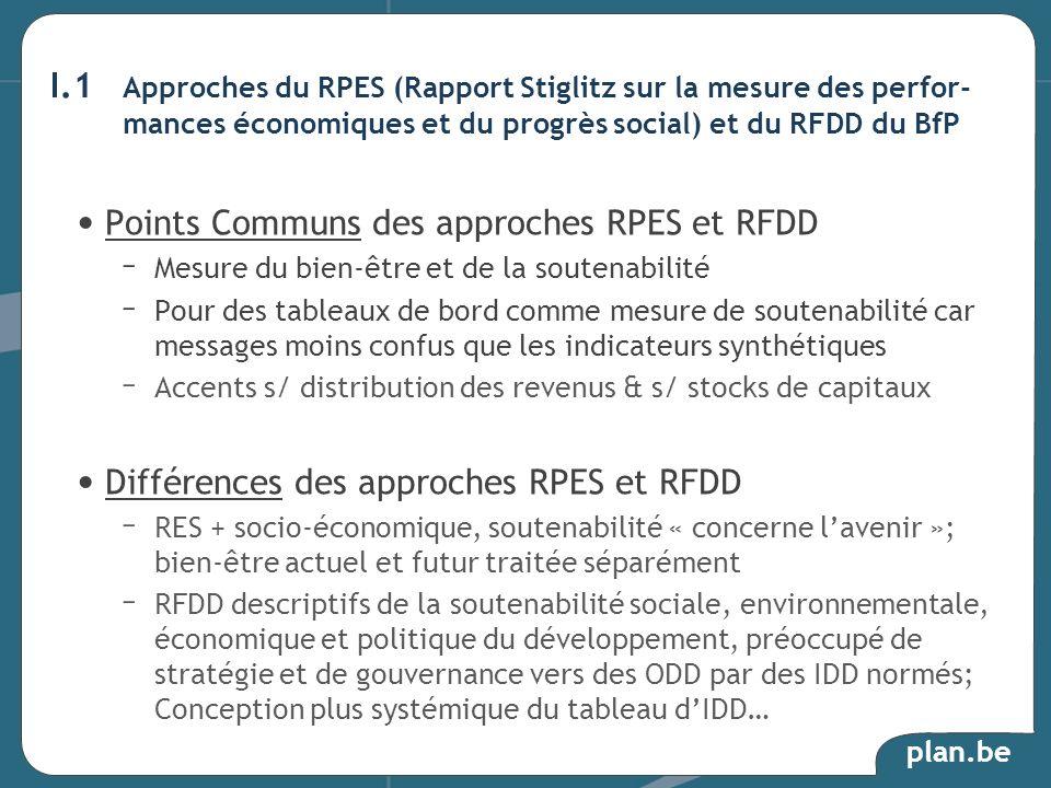 Points Communs des approches RPES et RFDD