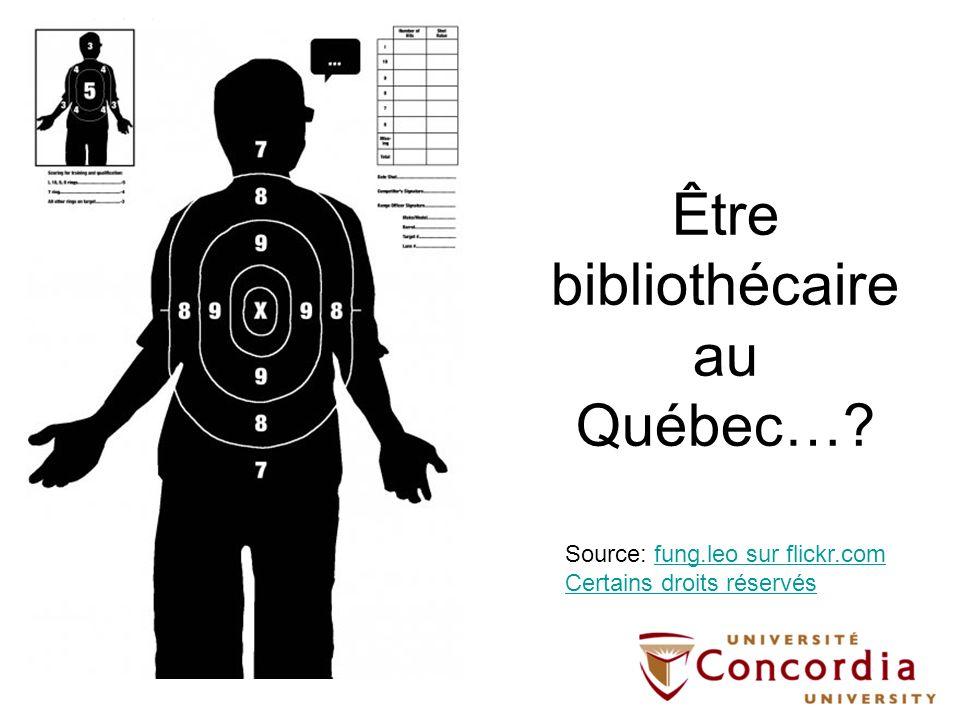 Être bibliothécaire au Québec…