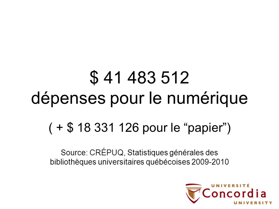 $ 41 483 512 dépenses pour le numérique