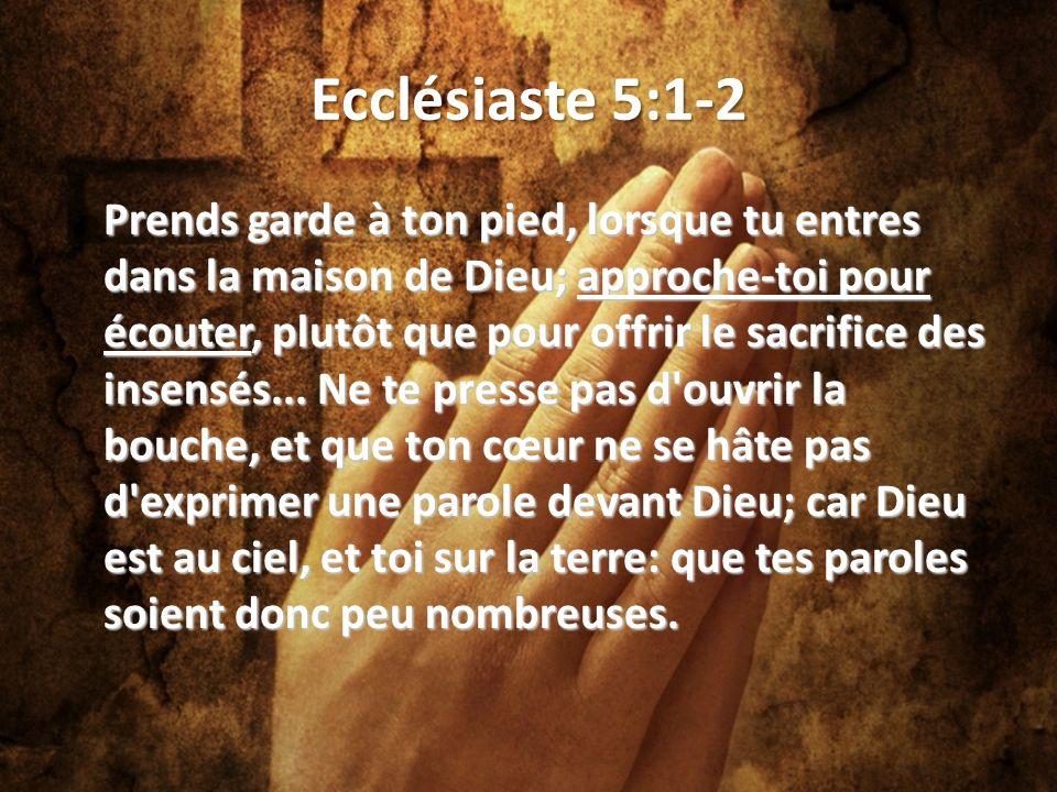Ecclésiaste 5:1-2