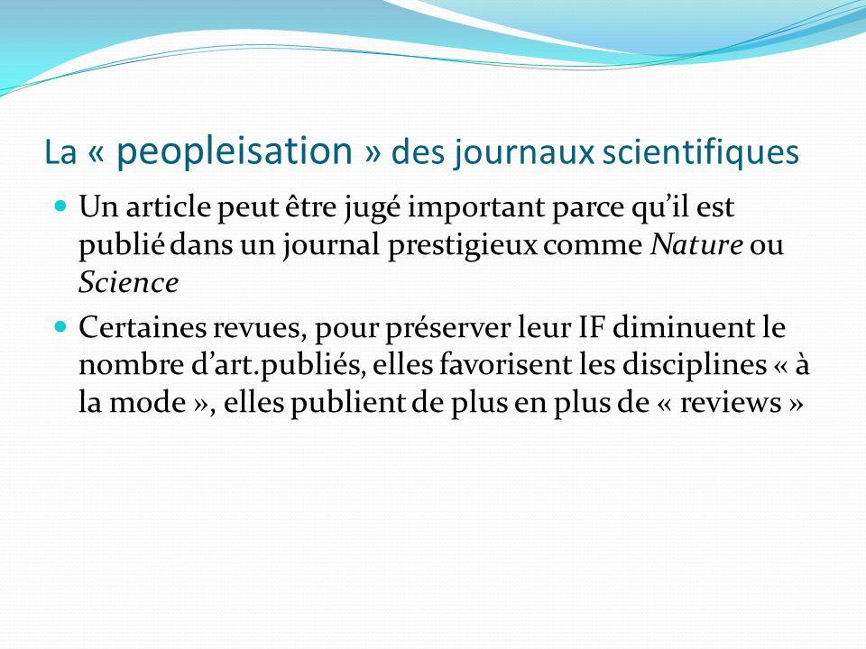 La « peopleisation » des journaux scientifiques
