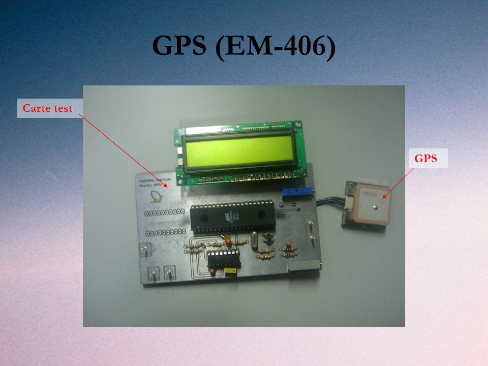 GPS (EM-406) Carte test GPS