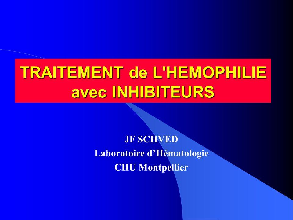 TRAITEMENT de L HEMOPHILIE avec INHIBITEURS