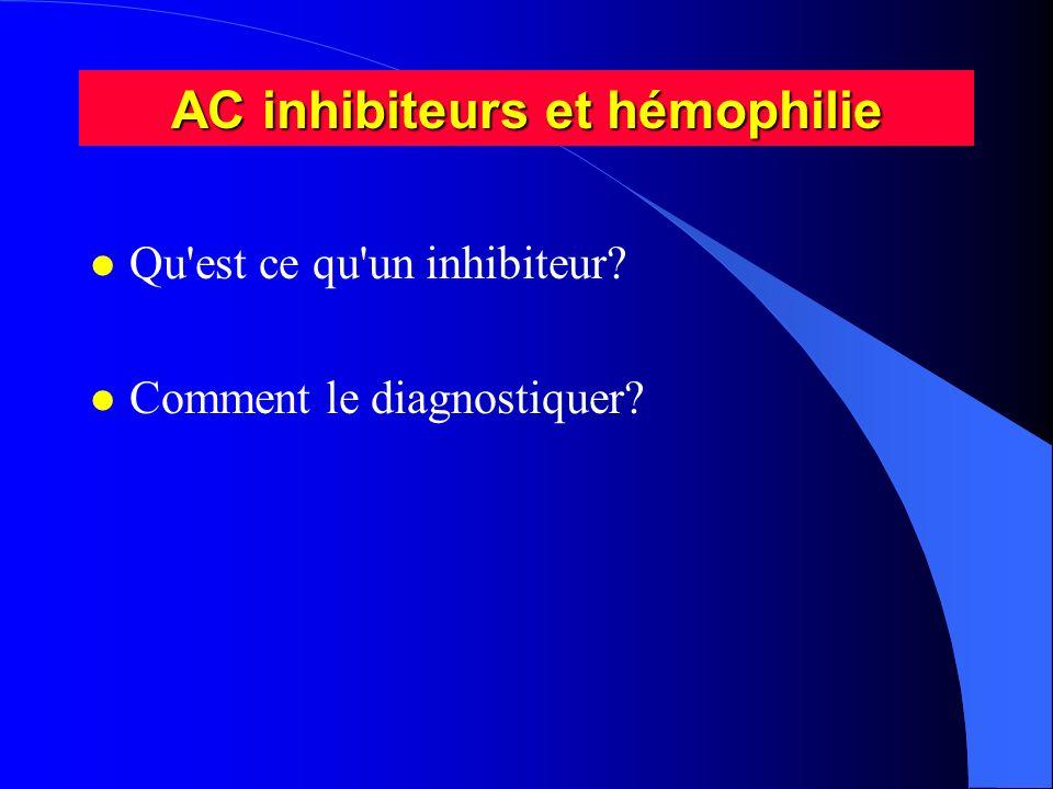 AC inhibiteurs et hémophilie