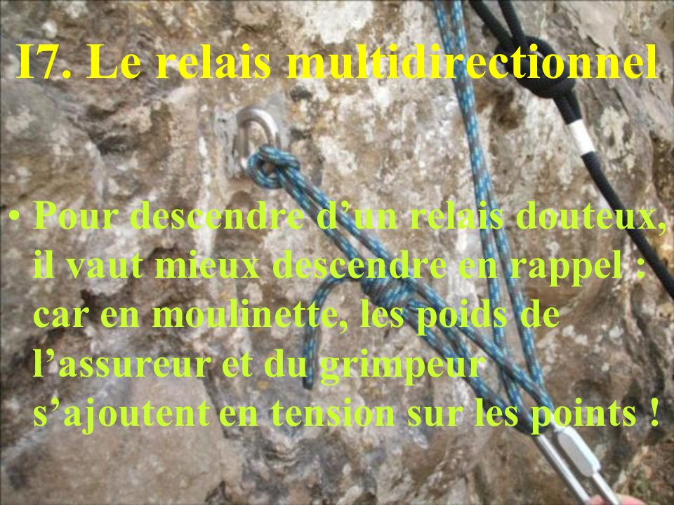 I7. Le relais multidirectionnel