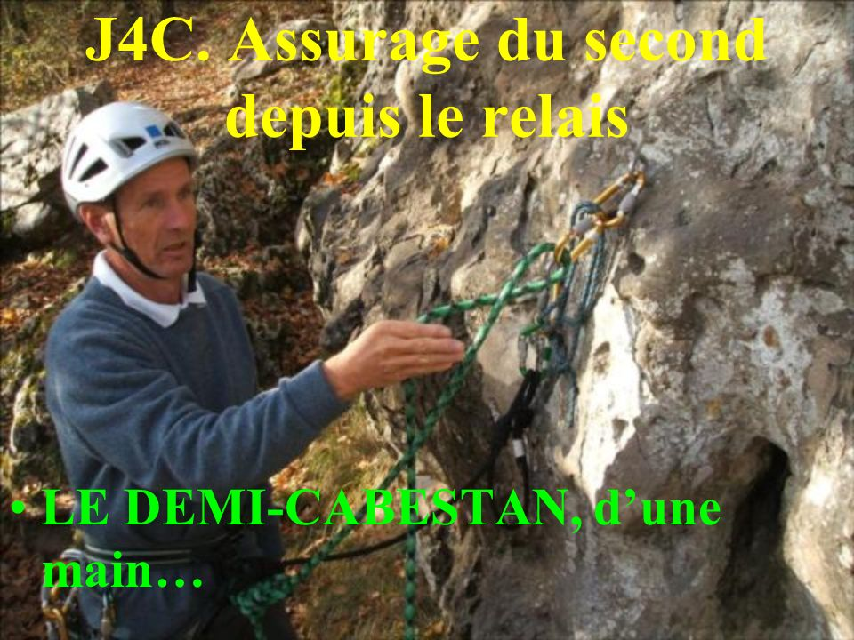 J4C. Assurage du second depuis le relais