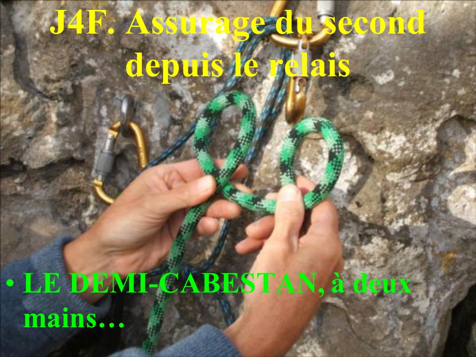 J4F. Assurage du second depuis le relais