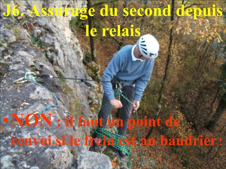 J6. Assurage du second depuis le relais