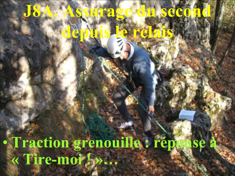 J8A. Assurage du second depuis le relais