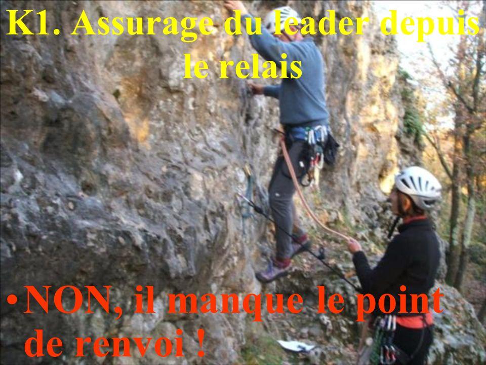 K1. Assurage du leader depuis le relais
