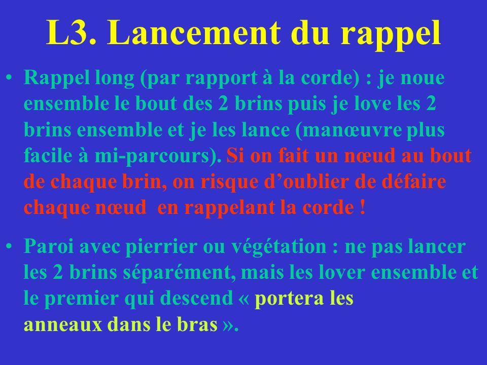 L3. Lancement du rappel