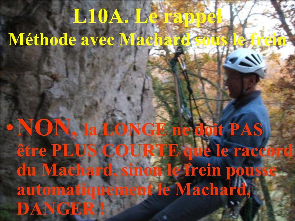 L10A. Le rappel Méthode avec Machard sous le frein