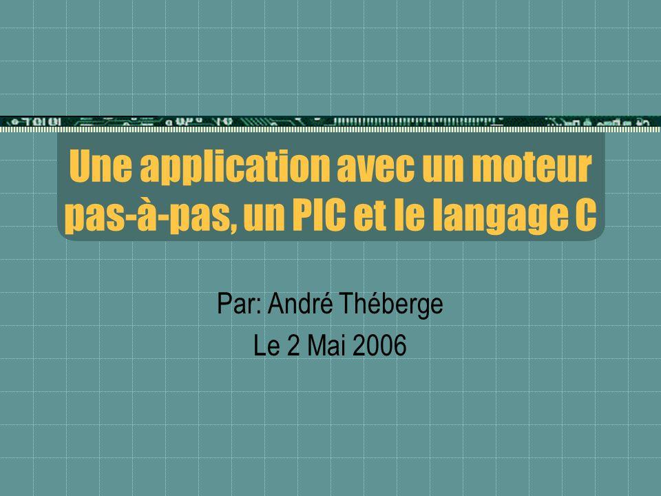 Une application avec un moteur pas-à-pas, un PIC et le langage C