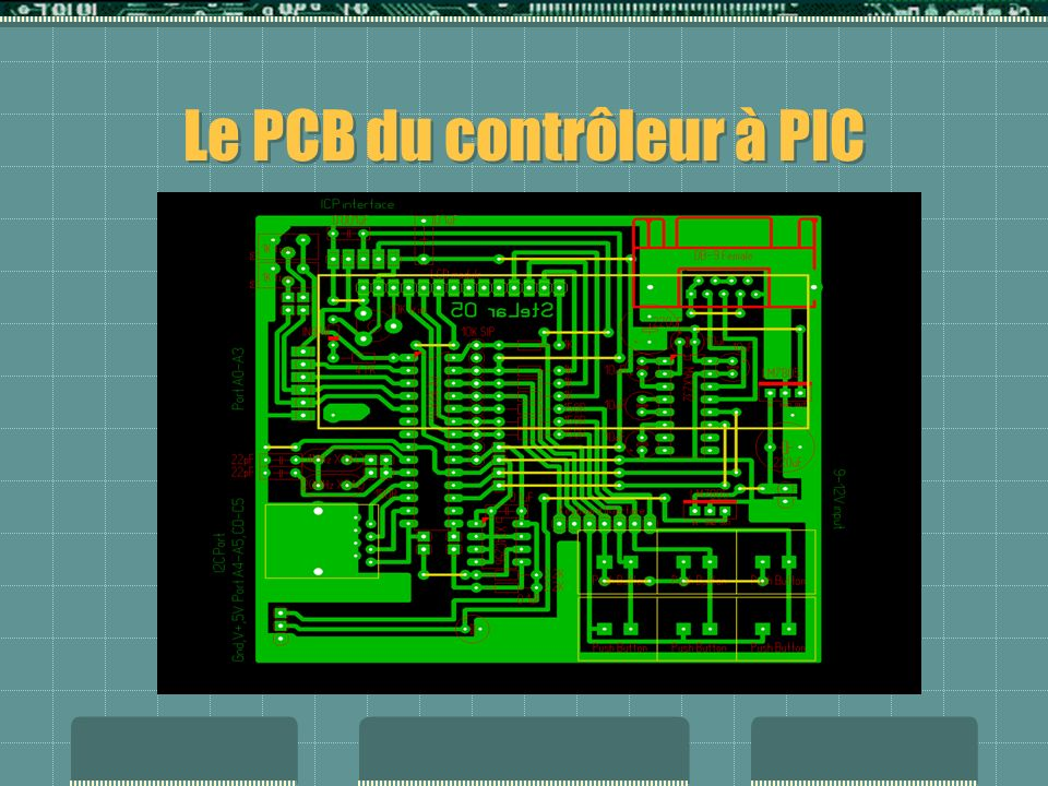 Le PCB du contrôleur à PIC