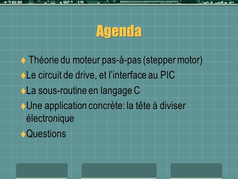 Agenda Théorie du moteur pas-à-pas (stepper motor)