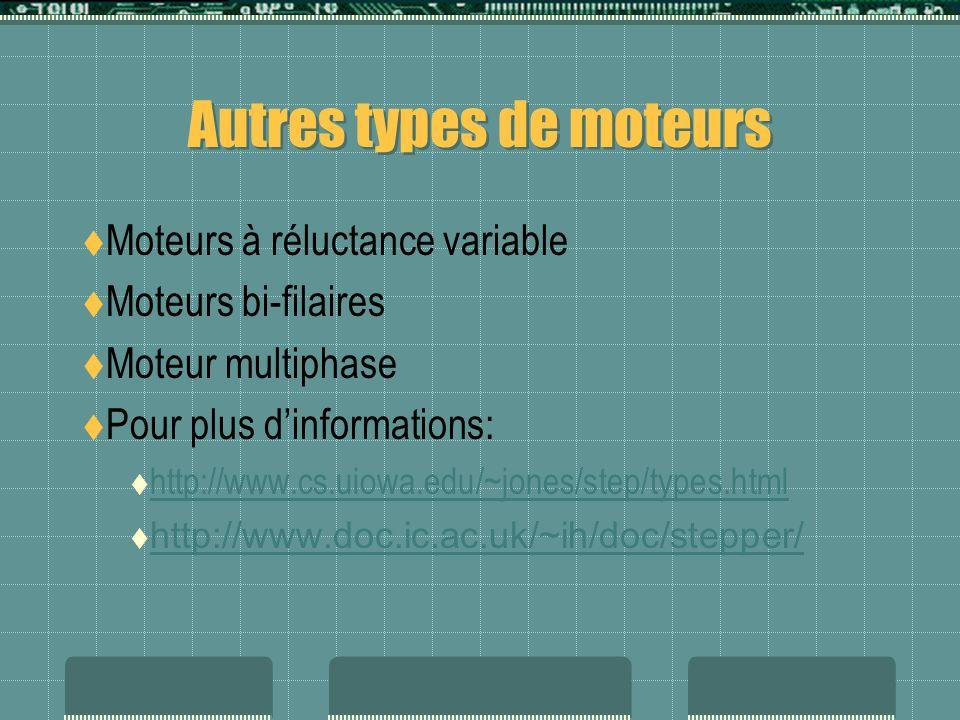 Autres types de moteurs