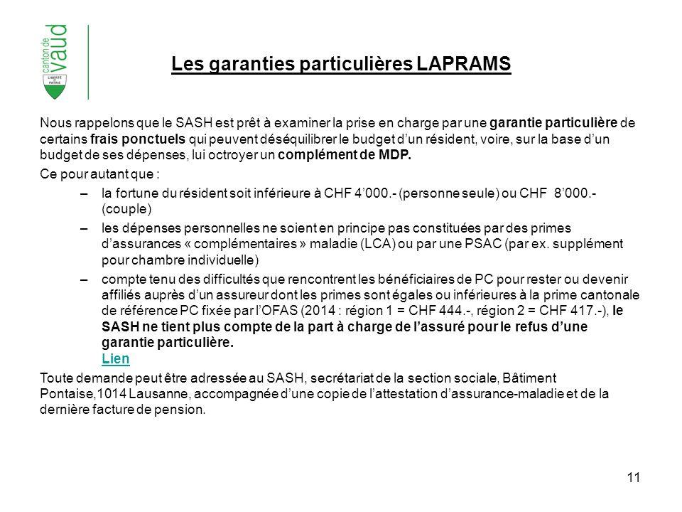 Les garanties particulières LAPRAMS