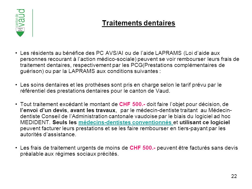 Traitements dentaires