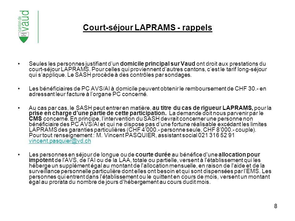 Court-séjour LAPRAMS - rappels