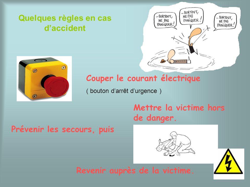 Quelques règles en cas d'accident