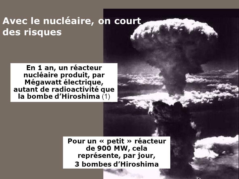 Avec le nucléaire, on court des risques