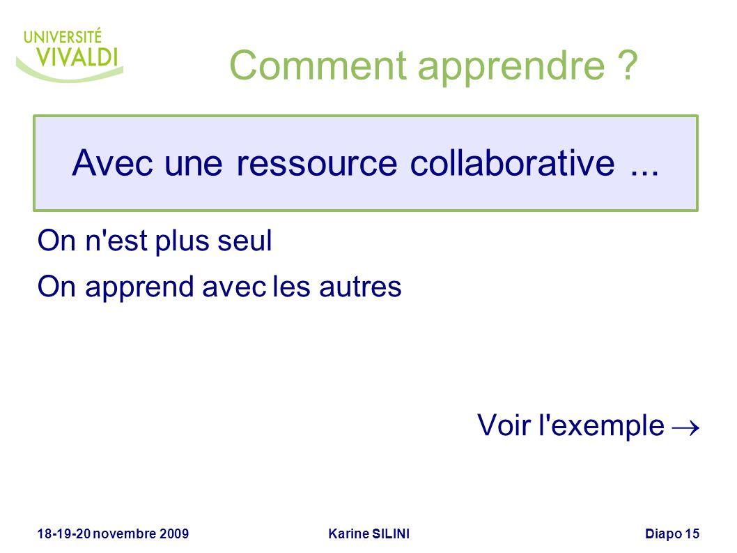 Avec une ressource collaborative ...