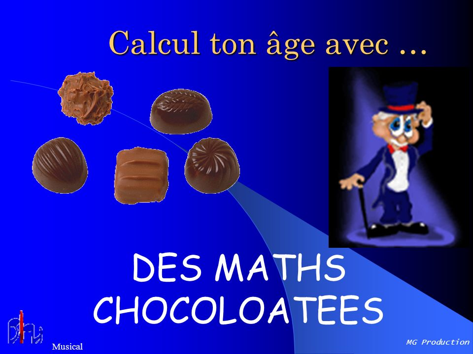 DES MATHS CHOCOLOATEES