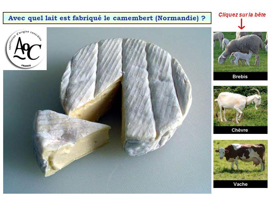 Avec quel lait est fabriqué le camembert (Normandie)