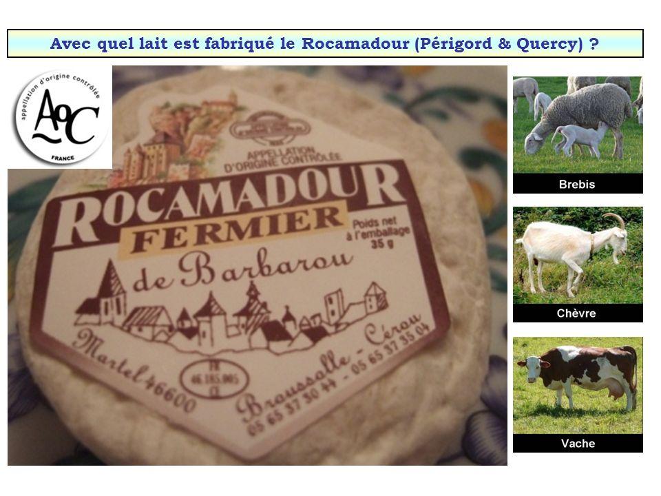 Avec quel lait est fabriqué le Rocamadour (Périgord & Quercy)