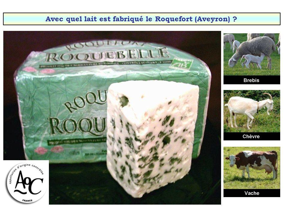 Avec quel lait est fabriqué le Roquefort (Aveyron)