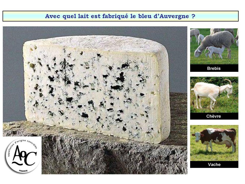 Avec quel lait est fabriqué le bleu d'Auvergne