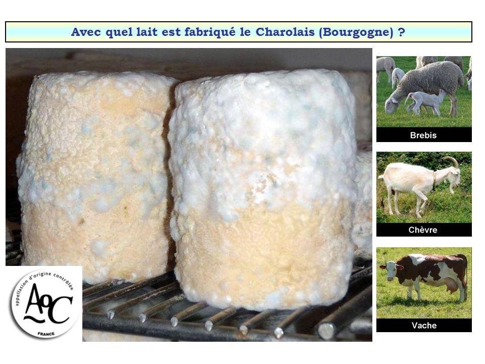 Avec quel lait est fabriqué le Charolais (Bourgogne)