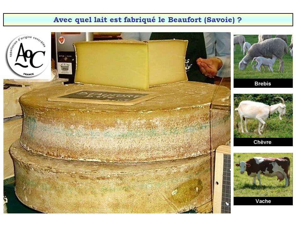 Avec quel lait est fabriqué le Beaufort (Savoie)